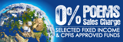 Invest in bond and CPFIS funds at 0% sales charge